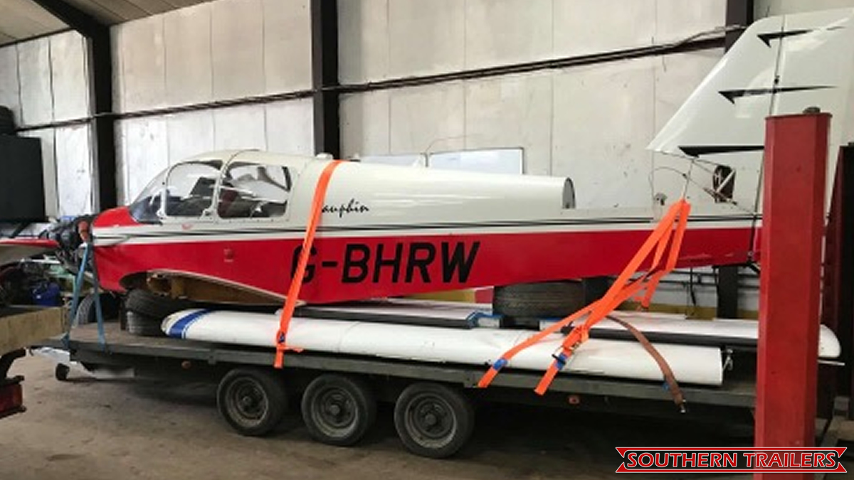 Scrap aeroplane moved for customer