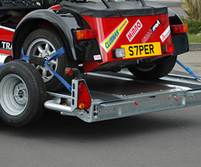Southern Trailers - Car Trailer with track day car.