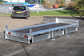 Southern Trailers -  Flatbed with all sides folded down.