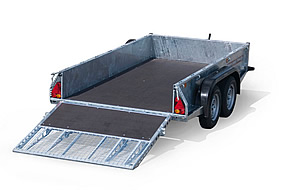Southern Trailers - Goods Trailer with ramp down.