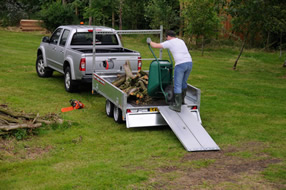 Southern Trailers -  Plant Trailer being used by gardener.