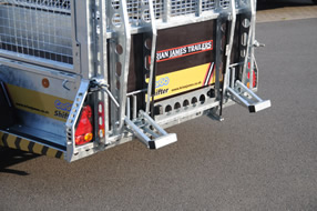 Southern Trailers - Brian James CarGo Shifter Trailer rear view.